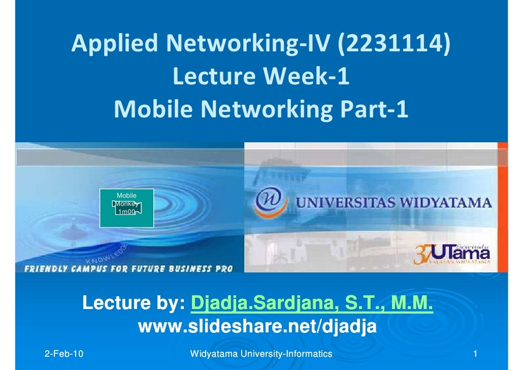 Applied Networking-IV (2231114)              Lecture Week-1         Mobile Networking Part-1             Mobile           ...