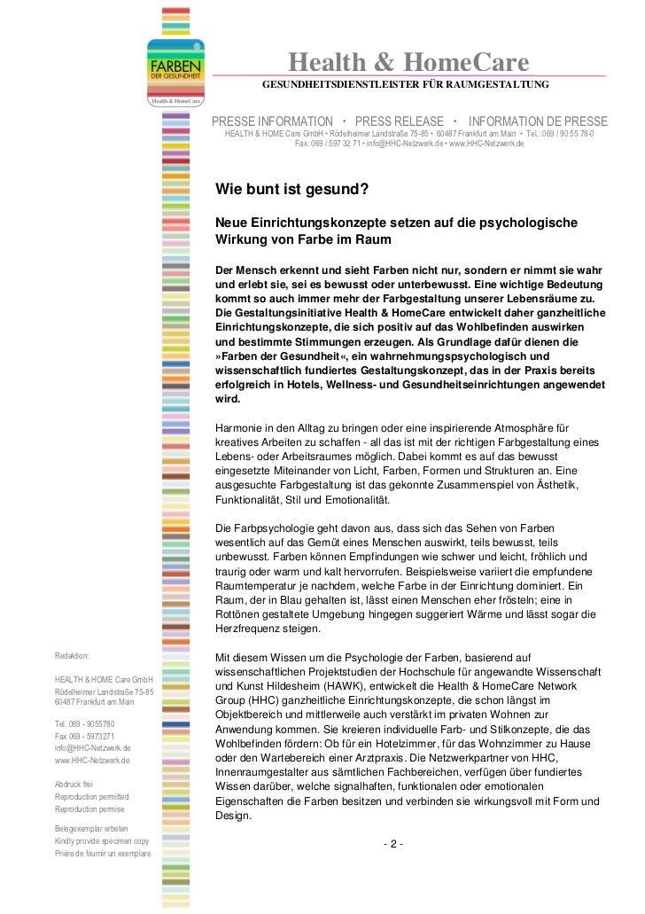 Health & HomeCare                                             GESUNDHEITSDIENSTLEISTER FÜR RAUMGESTALTUNG                 ...