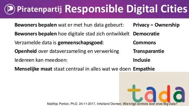 Matthijs Pontier, Ph.D, 24-11-2017, Inholland Diemen, Wie krijgt controle over onze Big Data?
