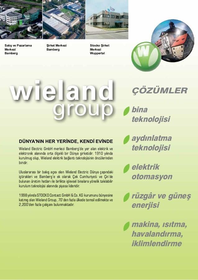 22 Wieland Electric GmbH merkezi Bamberg'de yer alan elektrik ve elektronik alanında orta ölçekli bir Dünya şirketidir. 19...