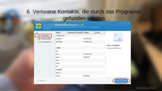 Jihosoft Android Datenwiederherstellung - Stellen Sie verlorene Dateien, wie Fotos, Audiodateien, Videos, WhatsApp-Nachric...