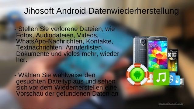Jihosoft Android Datenwiederherstellung - Unterstützt moderne Android-Geräte von Samsung, Sony, HTC, LG, Google, Motorola,...