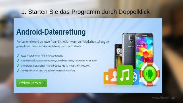 www.jiho.com/de 2. Wählen Sie die Datenbank zum scannen