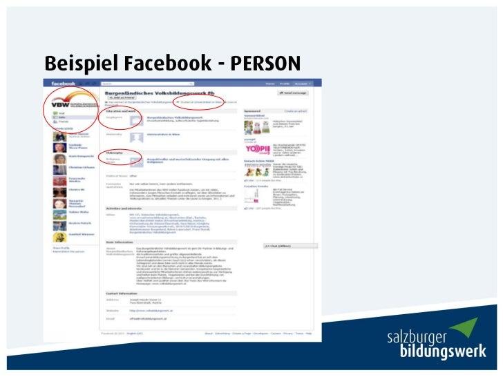 Beispiel Facebook - PERSON
