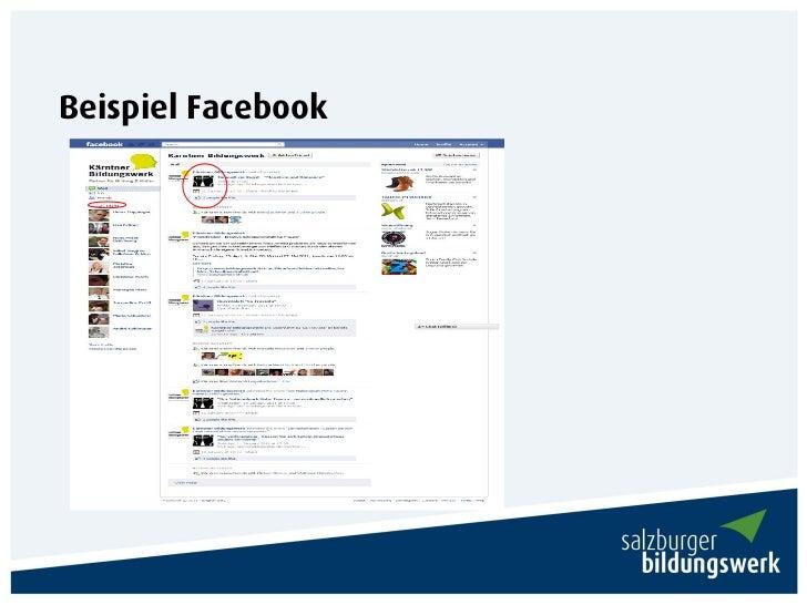 Beispiel Facebook