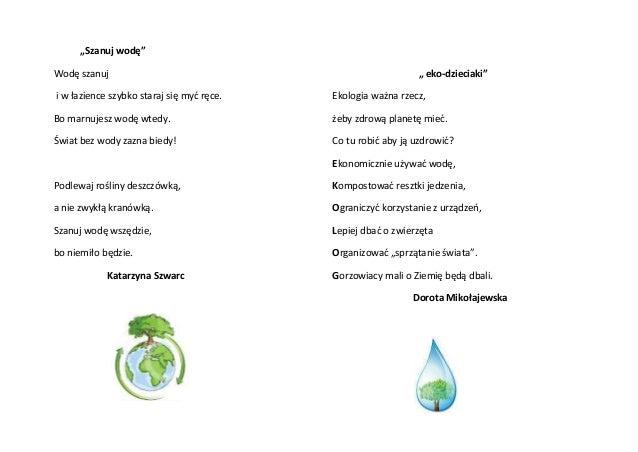 Wierszyki O Ekologii