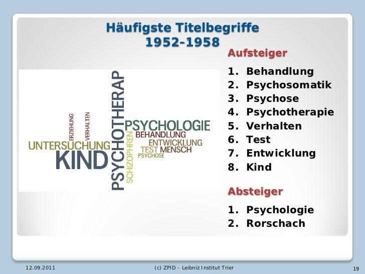 Häufigste Titelbegriffe                  1952-1958                                                  Aufsteiger            ...