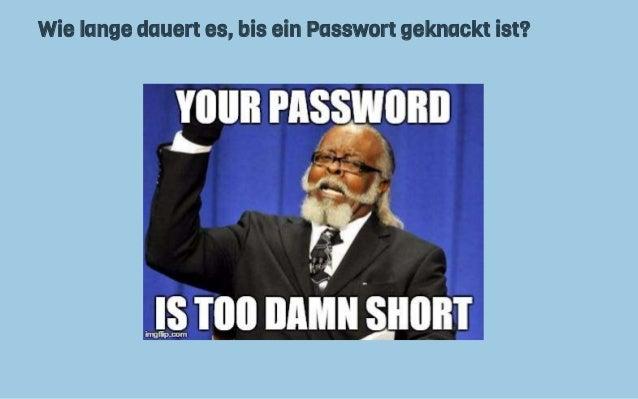 wie ist mein passwort