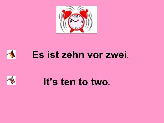 Es ist zwanzig nach zwei. It's twenty past two.