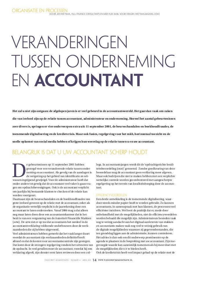 organisatie en processen                                  door jan wiEtsma,, full financE consultants En mkB huB. (mail vo...