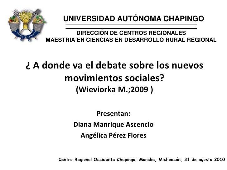 UNIVERSIDAD AUTÓNOMA CHAPINGO<br />DIRECCIÓN DE CENTROS REGIONALES<br />MAESTRIA EN CIENCIAS EN DESARROLLO RURAL REGIONAL<...