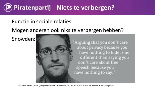 Matthijs Pontier, Ph.D., Hogeschoolvan Amsterdam, 29-10-2019, Wiewordtdebaas over onzebig data?