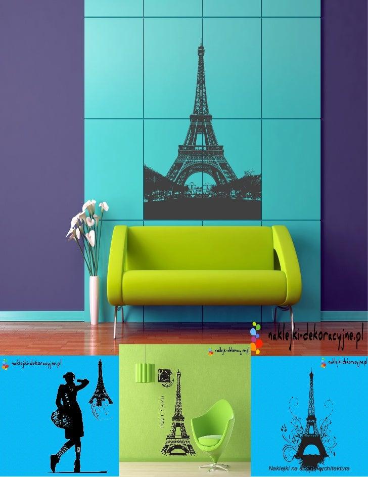 Naklejki na ścianę architektura
