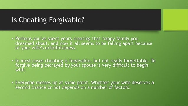 Forget How And Infidelity Forgive To the net colombia