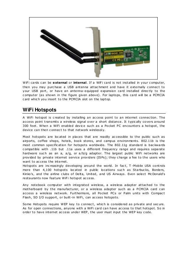 Wi fi / Wireless Fidelity
