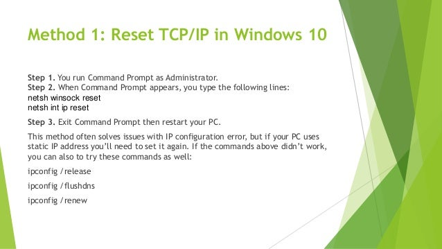 how to set ip configuration windows 10