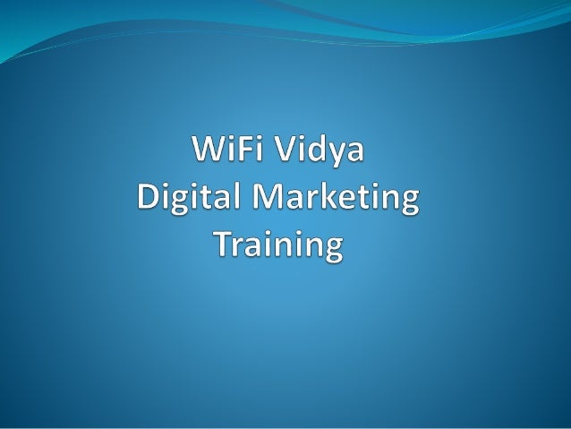 About us  Wifi Vidya is one of the best solutions for all those who are looking for a result driven, instructor led train...