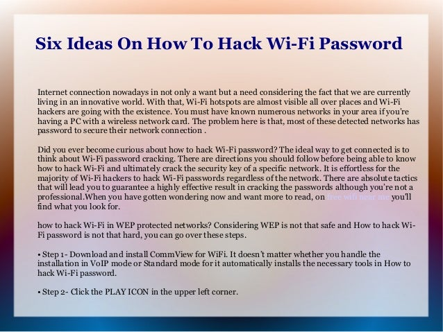 how to hack wi