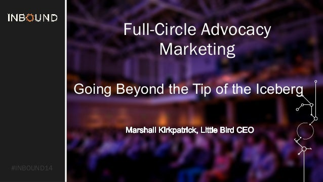 #INBOUND14  Full-Circle Advocacy  Marketing  Going Beyond the Tip of the Iceberg