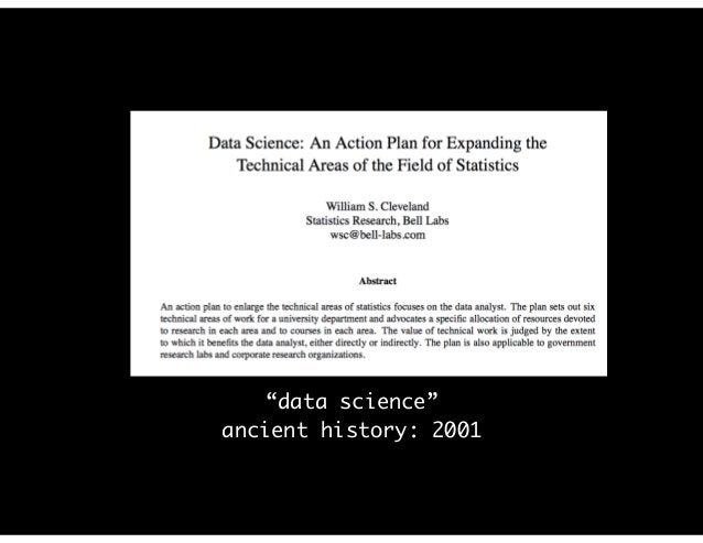 """""""data science"""" ancient history: 2001"""