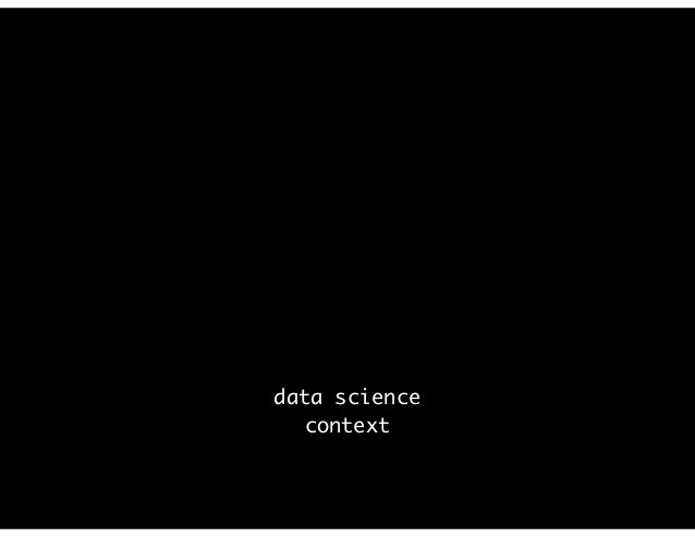 data science context