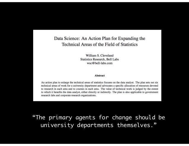 """""""The primary agents for change should be university departments themselves."""""""
