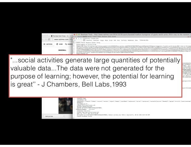 data science: the web