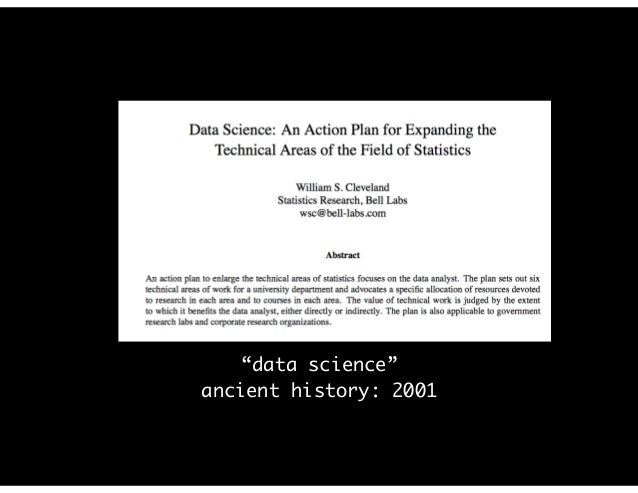 """data science"" ancient history: 2001"