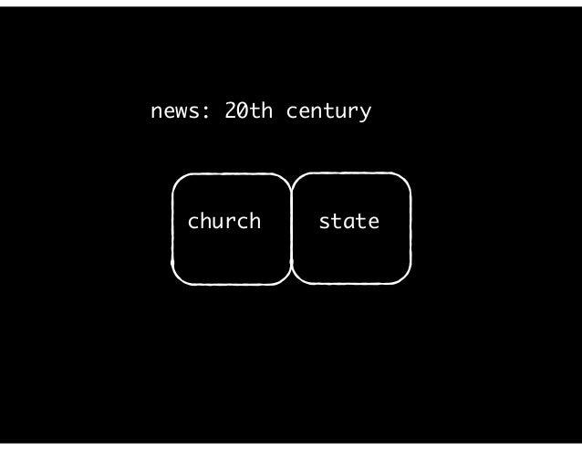 news: 20th century church state