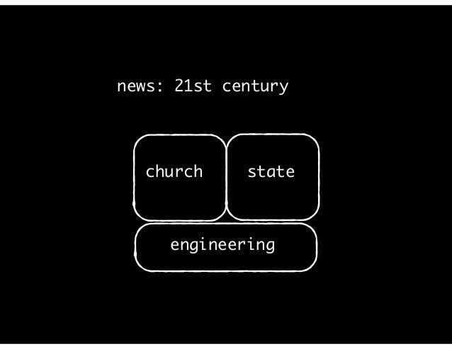 news: 21st century church state engineering