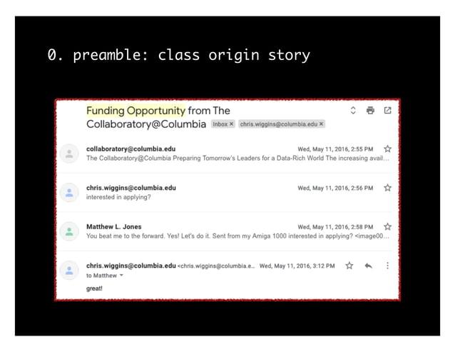 0. preamble: class origin story