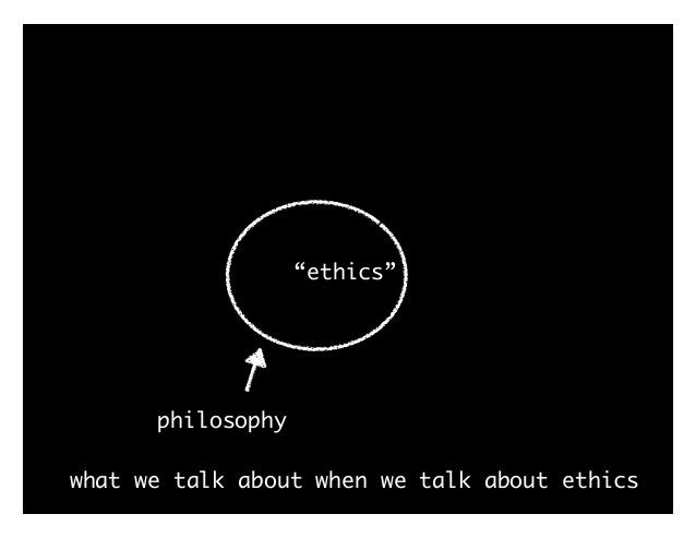 """what we talk about when we talk about ethics """"ethics"""" philosophy logic"""