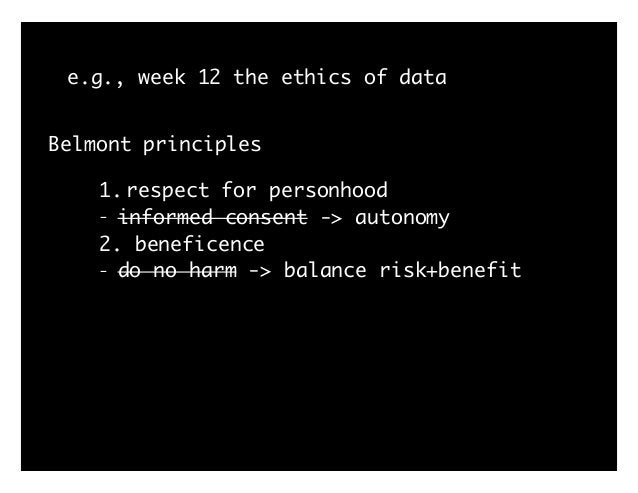 """e.g., week 12 the ethics of data from: Wagner, Ben. """"Ethics as an Escape from Regulation: From ethics-washing to ethics-sh..."""