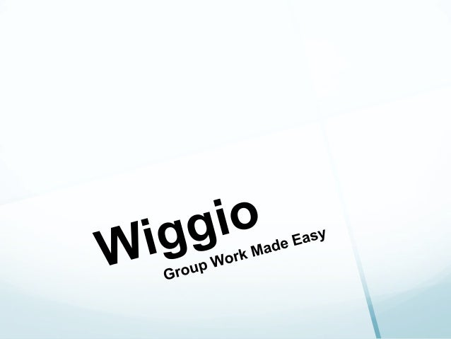 What is Wiggio Wiggio is a site dedicated to making group work easy It connects Facebook, Email, other social media site...