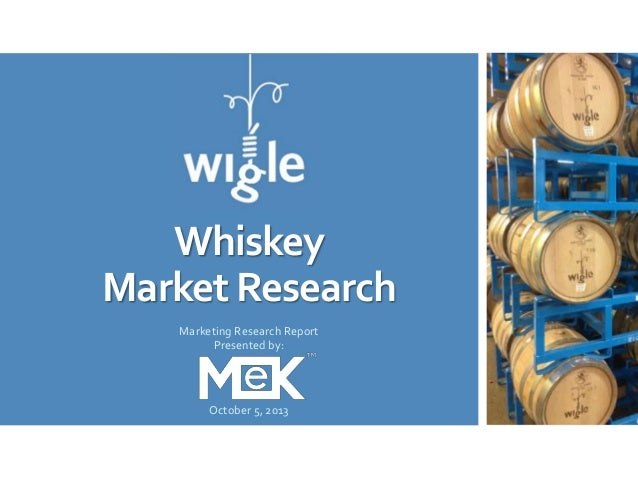 Whiskey Market Research Marketing Research Report Presented by: October 5, 2013