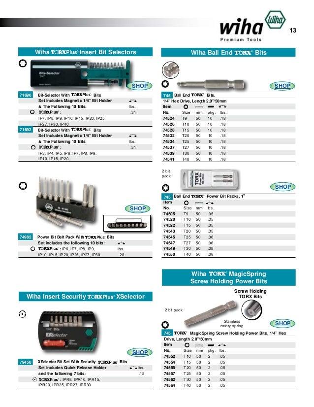 Wiha 70520 T20s Security Torx Power Bit