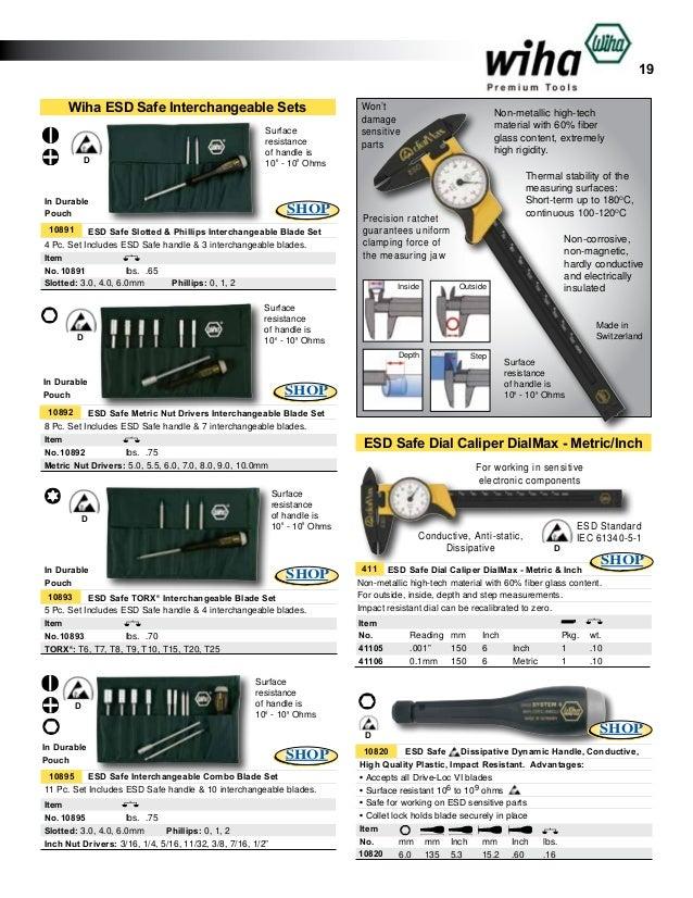 Wiha 26976 #0 x #1 Phillips ESD Safe Drive-Loc IV Blade
