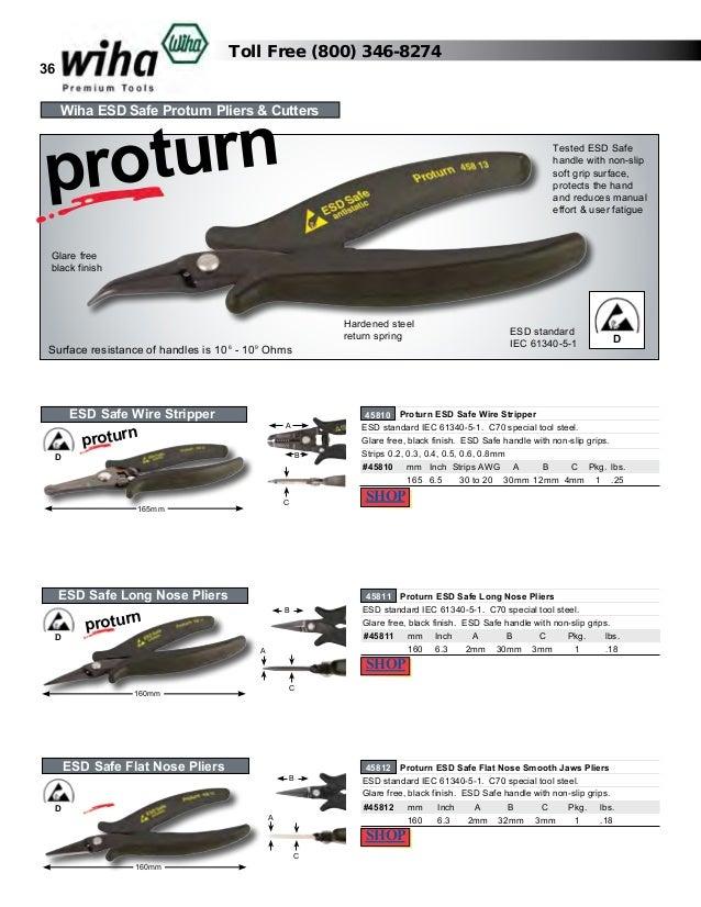 Wiha 45810 ESD Safe Proturn Wire Stripper