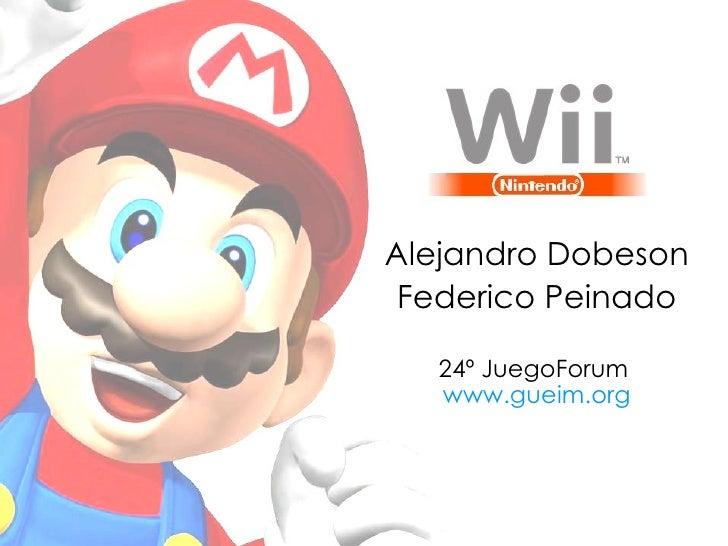 Alejandro Dobeson Federico Peinado 24º JuegoForum  www.gueim.org