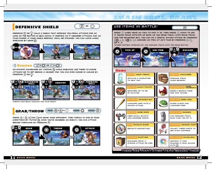 Wii Manual Super Smash Bros Brawl (M3)