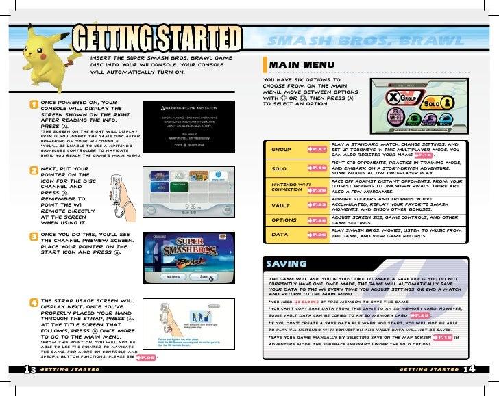 Wii operation manual error.