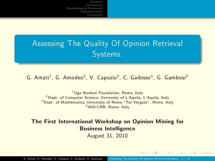 Summary                                           Introduction                              Methodological Framework      ...