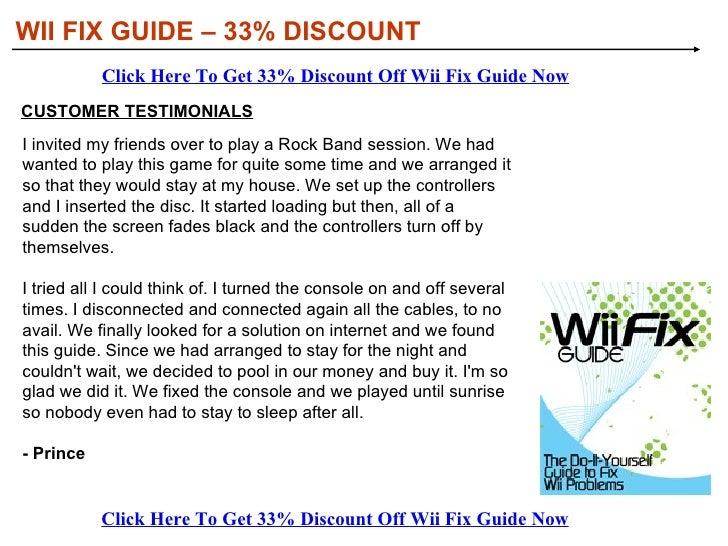 wii fix guide discount rh slideshare net nintendo wii fix guide Zelda Nintendo