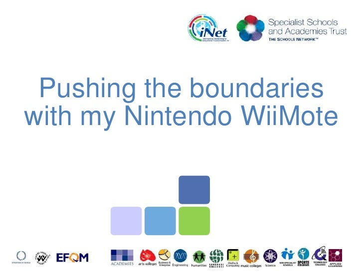 Pushing the boundaries with my Nintendo WiiMote<br />