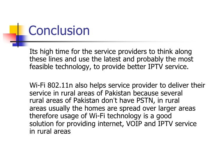 Wi Fi 802 11n Based Access Network For Iptv Service