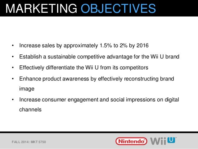 marketing analysis for nintendo wii Strategic management – an analysis of the video games industry and nintendo's opportunity in china.