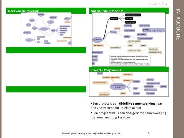 Wijsheden en Best Practices volgens MvV Over Projectmanagement Slide 3