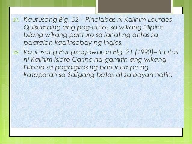 """wikang filipino at iba pang wika sa rehiyon wika ng bayan sa kapayapaan """"wikang filipino at iba pang wika sa rehiyon: wika ng bayan para  """"wika ay  kakambal ng kapayapaan sa pagtahak sa tuwid na landas."""