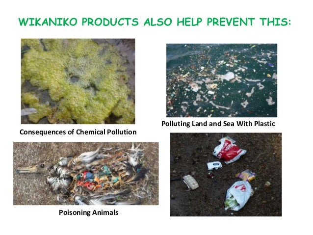 WIKANIKO PRODUCTS ALSO HELP PREVENT THIS: Consequences of Chemical Pollution Poisoning Animals Polluting Land and Sea With...