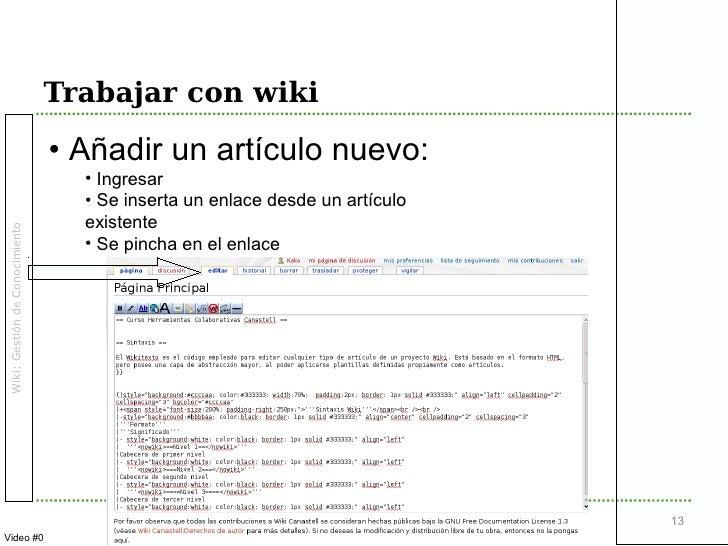 Wiki Y Gesti 243 N De Conocimiento